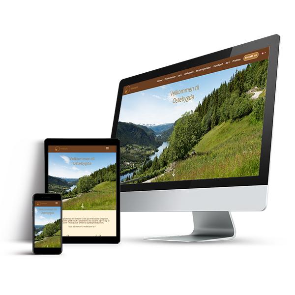 webdesign av nettside ostebygda